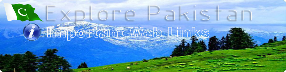 Important Web Links of Pakistan