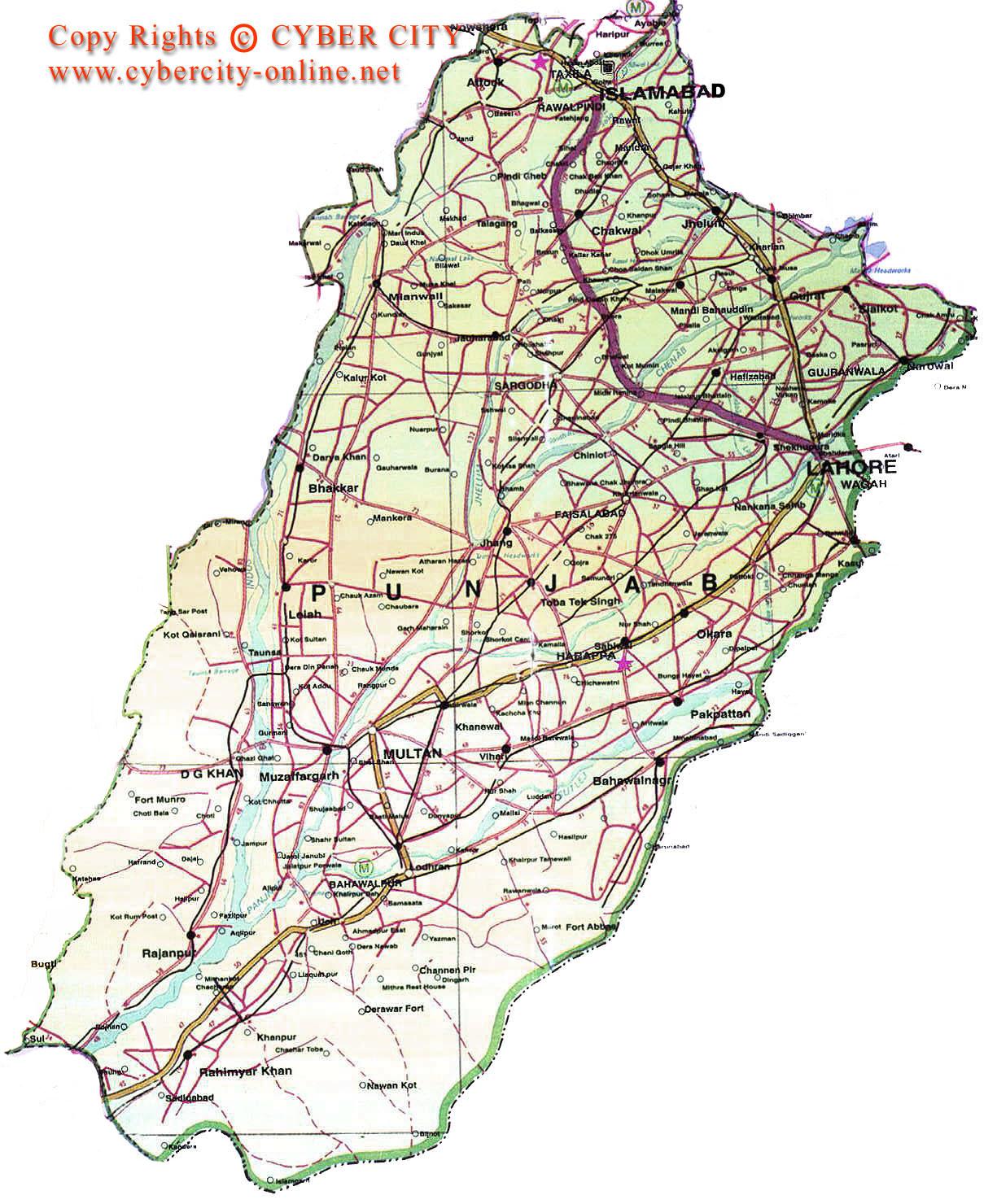 Travel Maps Of Pakistan - Maps of pakistan