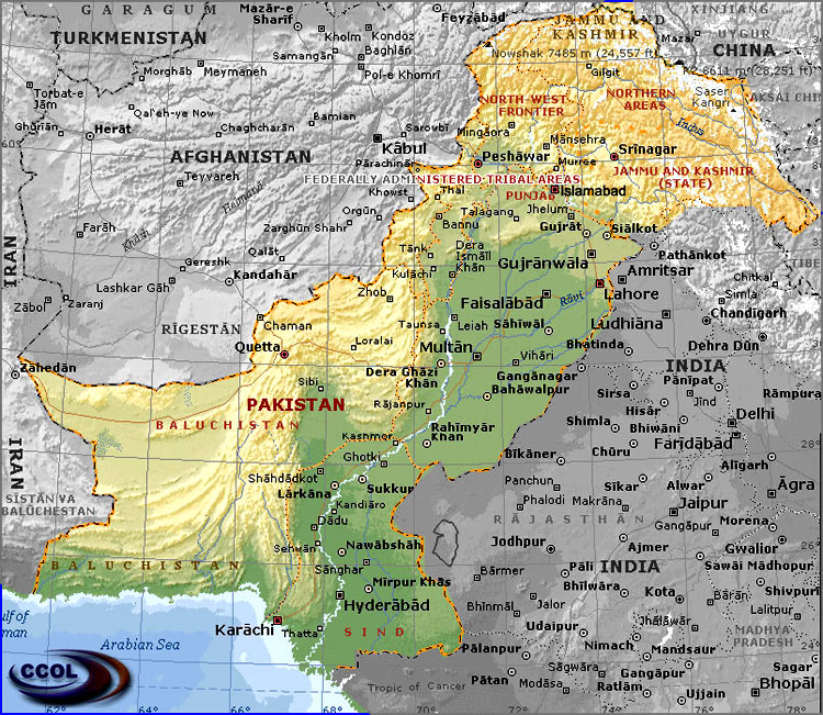Maps Of Pakistan - Map pakistan